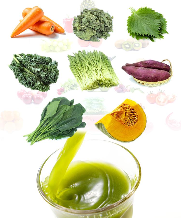 青汁畑 緑黄色野菜を配合